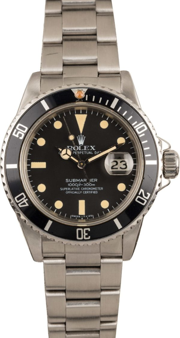 Rolex Submariner 16800 Replica Men's Automatic 3035 Stainless Steel