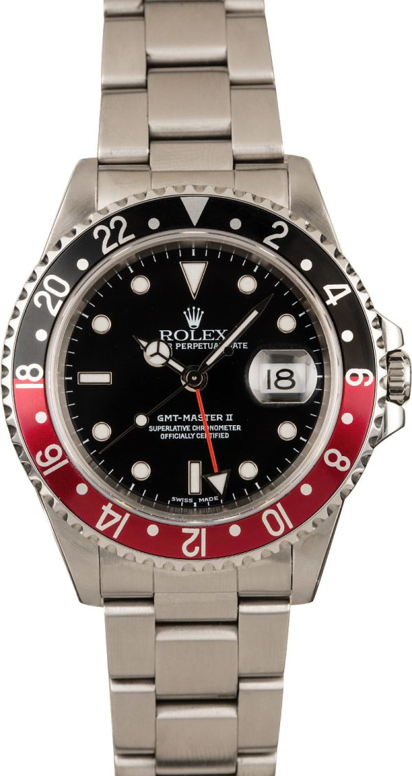 Rolex Gmt-master II - 16710 Fake Men's Case 40mm Dial Black Stainless Steel Oyster