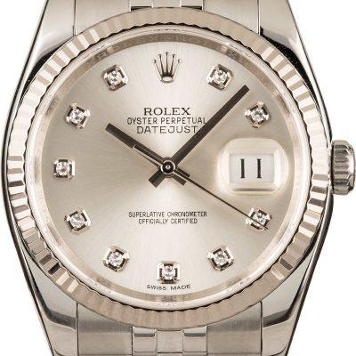Rolex Datejust 116234 Fake Men's Case 36mm Automatic 3135