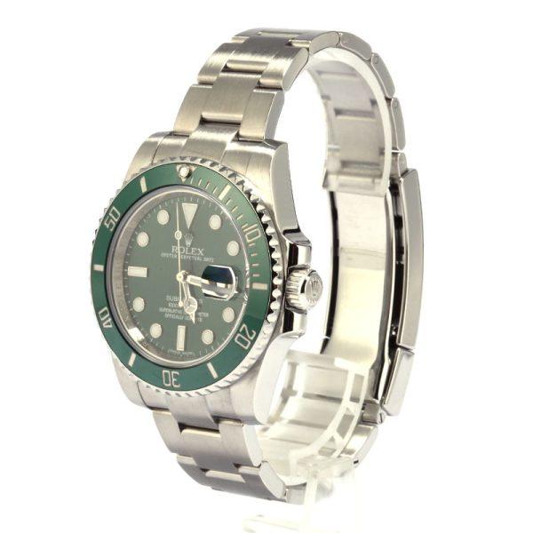 Rolex Submariner 116610v Men's Dial Green 904l Stainless Steel