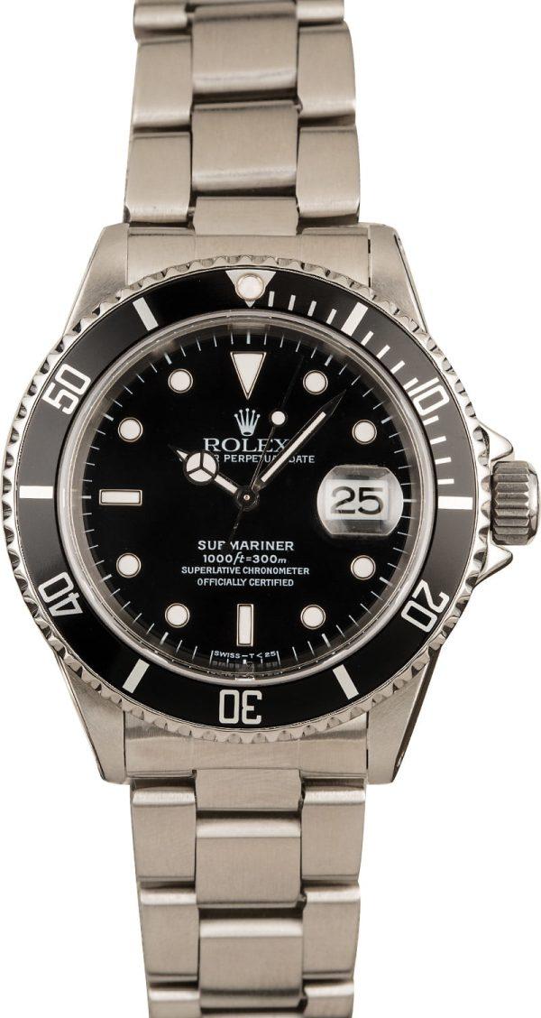 Rolex Submariner 16610 Men's Dial Black Automatic 3135