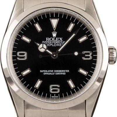 Rolex Explorer 14270 Men's Dial Black Stainless Steel Oyster