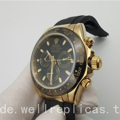 Rolex Daytona 116518ln 002 Herren Zifferblatt Schwarz 18 Karat Gelbgold