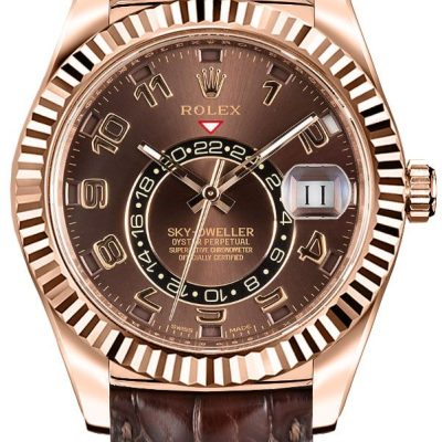 Rolex Sky-Bewohner 326135 Herrenetui 42 mm 18 Karat Everose Gold