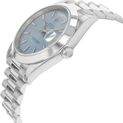 Rolex Day-Date 228206 Herren 40mm Blue Dial Silber Armband Automatikuhr