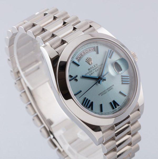 Rolex Day-Date 228206 Unisex 40mm Glacier Blue Automatikuhr